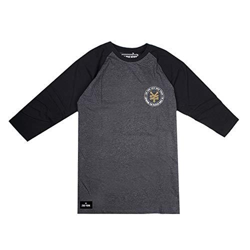 charcoal Cbl T Zoo York Ruckus T black Gris shirt Homme a6O0q6