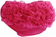 Newborn Baby Girl 3-24M Cotton Lace Ruffle Nappy Diaper Cover Bloomers Panties - Rose red, XL for 12-24Months