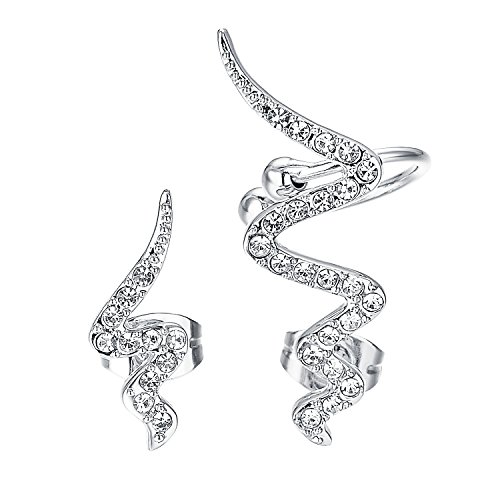Yoursfs Snake Ear Cuff Earring for Men Cool Punk Wrap Pierced Jewelry... ()