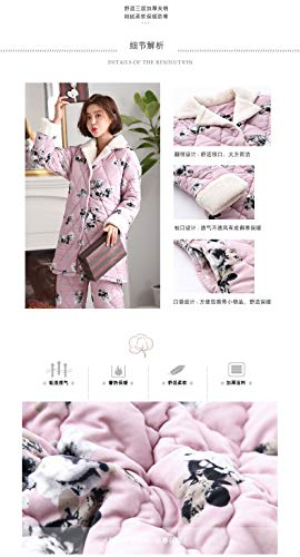 Wear Thick Quilted 47 Pajamasx Warm Cute 164cm Winter 168cm Plus L158 Outside 65kg 57kg Xl162 Autumn Velvet Pajamas Clothing 58 Ladies layer Coral Three Can And Suits ZIwq48Zxr