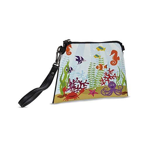 Aquarium Stylish Clutch Bag,9.2