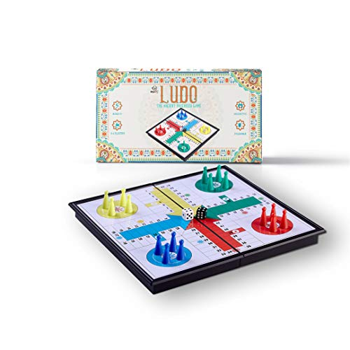 - Magnetic Ludo Game - 10 Inch   Classic Parcheesi Travel Board Game