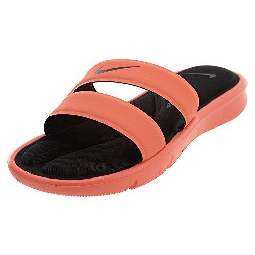 NIKE Women's Ultra Comfort Slide Athletic Sandal, Bright Mango/Black, 8 B(M) US