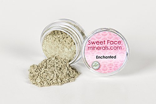 (ENCHANTED Eye Shadow 5g Jar Mineral Makeup Bare Skin Sheer Liner Loose Powder Cover by Sweet Face Minerals)