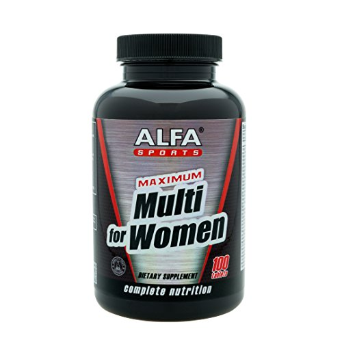 Maximum Multi for Women 100 Tablets. Complete Sports Nutrition. Vitamins. Minerals. Amino Acids. Fatty Acids. Plus Female Herbal Blend