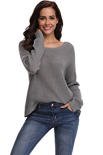 Sweater Pullover Longues Col Manches Pull SHEKINI Tops V Sexy Tricots Casual Crois Chandail Femme qSFx0RE