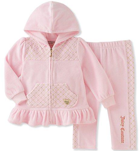 9ca850552 Galleon - Juicy Couture Girls  2 Piece Velour Pants Set