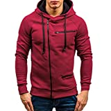 fbR8wawOKPHoYL9 Men's Casual Striped Drawstring Hooded and Zipper Closure Hoodies