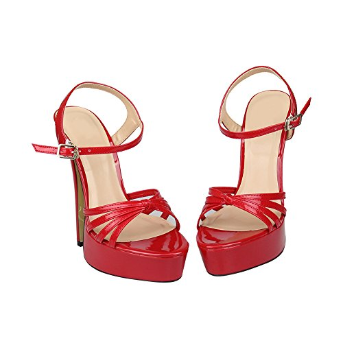 High Sandals Platform Dress Men Plus Women fereshte Ankle Red Heel Size Classic Strap for qywR0CBI