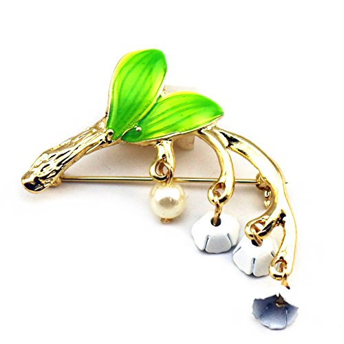 Lily-of-the-valley Brooch Plant Sen Department Brooch Small Fresh Aesthetic Style Clothing & Accessories from floor88