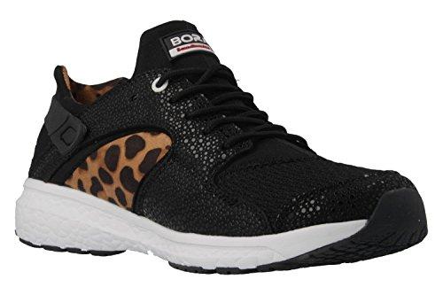 BORAS - Damen Sneaker - Schwarz Schuhe in Übergrößen, Größe:44