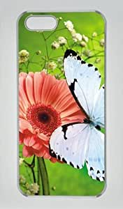 Butterfly Iphone 5 5S Hard Shell with Transparent Edges Cover Case by Lilyshouse
