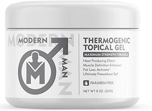 Modern Man Thermogenic Fat Burning Cream - Belly Fat Burner for Men - Skin Tightening Sweat Enhancer Gel | Burn Stomach Fat Fast for Defined Six Pack Abs & Steel Physique | Bodybuilding Weight Loss