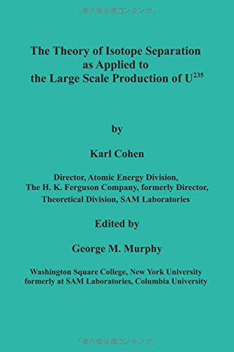 The Theory of Isotope Separation as Applied to the Large Scale Production of U235 pdf epub