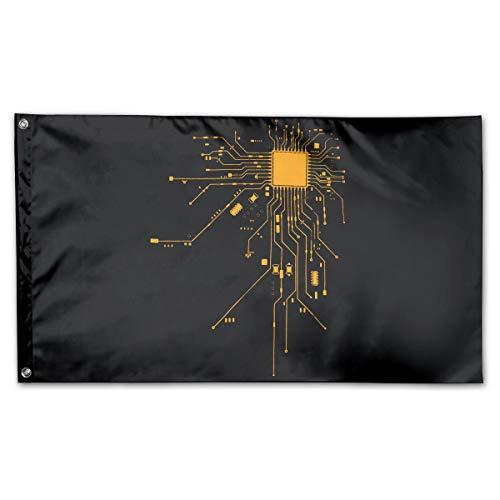Computer CPU Core Heart Geek Nerk Pc Gamer Flag Polyester Flag Indoor/Outdoor Banner Flags 3x5 Best Gift