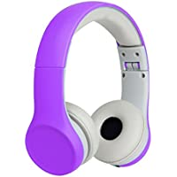 Comfort-fitting, Volume-limiting, Share-porting, Headphones for Kids - Better Than The Other Gadgets - PURPLE