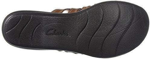 Clarks Womens Leisa Grace Platform, Brown/Multi Leather, 10 Medium US