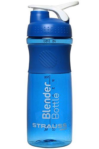 Strauss Blender Shaker Bottle 760ml, (Blue)