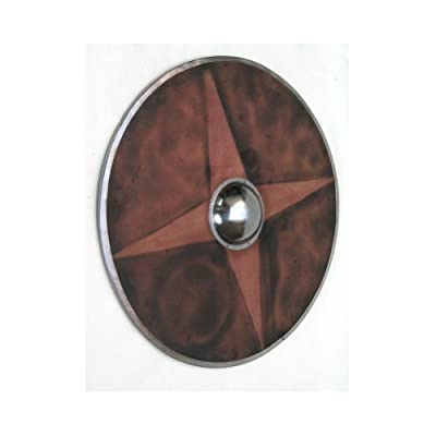 Armor Venue Large Wooden Buckler Shield - Brown - One Size