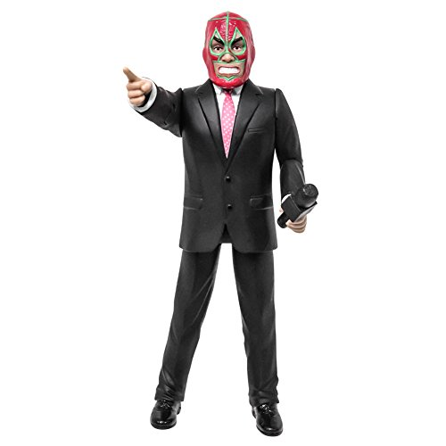 Talking Wrestling Ring Announcer With Luchador Mask Action Figure by Figures Toy Company
