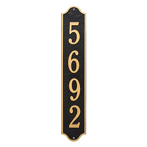 "Custom Admiral Estate VERTICAL Address Plaque 5""W x 28""H (1 Line) by Whitehall (Image #1)"