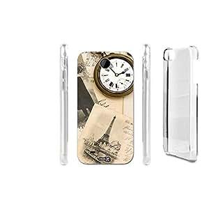 FUNDA CARCASA VINTAGE CLOCK PARA HTC DESIRE 300