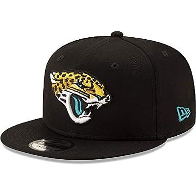 New Era Jacksonville Jaguars Hat NFL Black Team Color Logo 9FIFTY Snapback Adjustable Cap Adult One Size