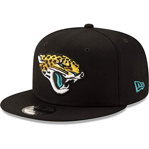 New Era Jacksonville Jaguars Hat NFL Black Team Color Logo 9FIFTY Snapback Adjustable Cap Adult One Size