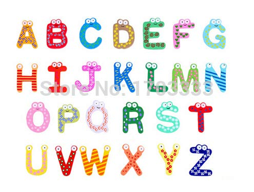 Alphabet Fridge Magnets - Children 39 S Creative Gifts Toys Wooden Magnetic Stickers 26 Alphabet Fridge Magnets - Toddler Baby Adults Frog Leap For Toddlers by Vuvuke