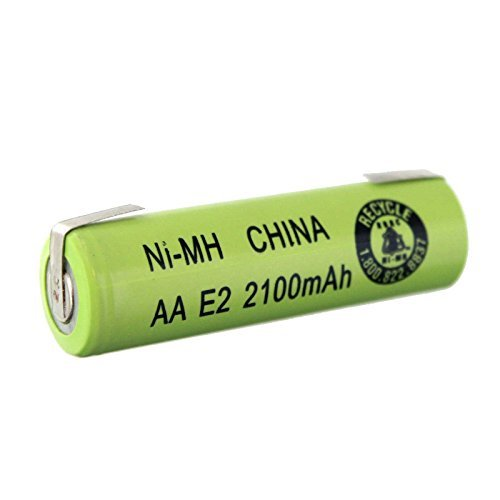 Exell AA Size 2100mAh NiMH 1.2V Rechargeable Battery Cell With Tabs USA SHIP by Exell Battery
