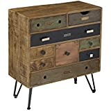 Treasure Trove Accents Nine Drawer Chest, 29.5 x 14 x 32, Multicolored
