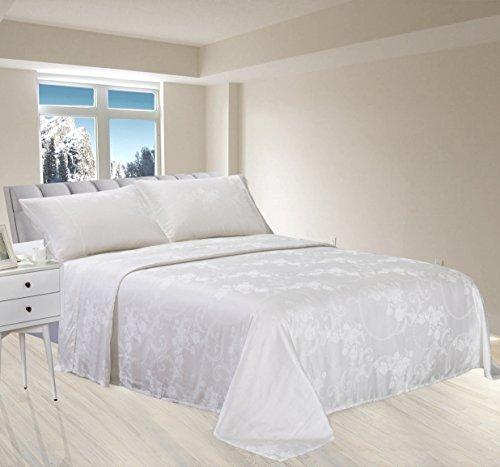 - New Season Home Itallian Cream King Silk Sheet Set Ivory 4 Piece
