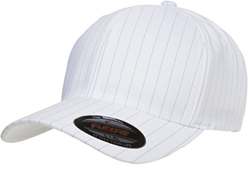 - Original Flexfit Pinstripe Hat Baseball Blank Cap Fitted Flex Fit 6195P Large / Xlarge - White / Black