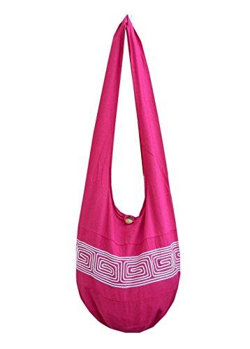 BTP! Thai Cotton Embroidered Sling Crossbody Shoulder Bag Purse Hippie Hobo Gypsy Bohemian Large
