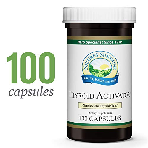 Nature's Sunshine Thyroid Activator, 100 Capsules | Nourish The Thyroid Gland and Support Thyroid Hormones with This Powerful Thyroid Activator Herbal Formula
