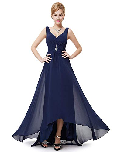Ever-Pretty Womens High Low Summer Wedding Guest Dress Navy Blue US18