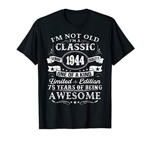 Classic 1944 T-Shirt 75th Birthday Gift