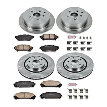 PLATINUM HART DRILLED SLOT  BRAKE ROTORS AND CERAMIC PAD PHCC.6607602 FULL KIT