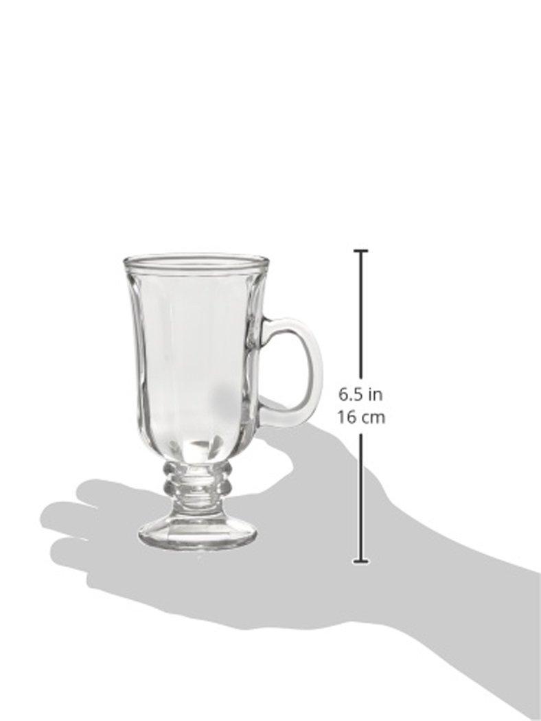 Style Setter Optic Irish Coffee Mugs (Set of 4), Clear by Style Setter (Image #2)
