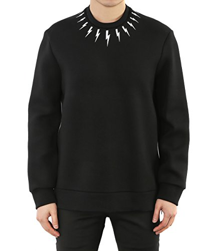 wiberlux-neil-barrett-mens-mini-thunder-print-side-zipper-sweatshirt-xl-black-white