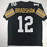 Unsigned Terry Bradshaw Pittsburgh Black Custom Stitched Football Jersey Size Men's XL New No Brands/Logos