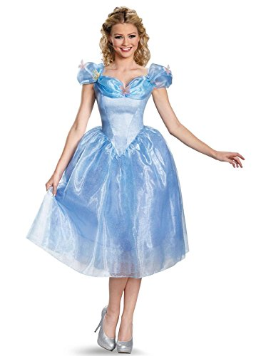 Disney Adults Dresses For Princesses (Disney Cinderella Disguise Women's Delux Costume Dress and Wig)