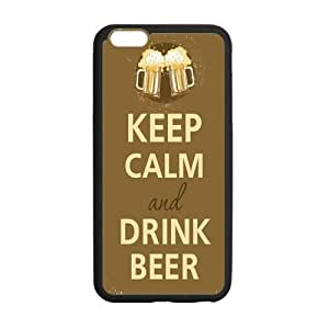 Onshop Custom Keep Calm and Drink Beer Mugs Phone Case Laser Technology for iphone 4 4s