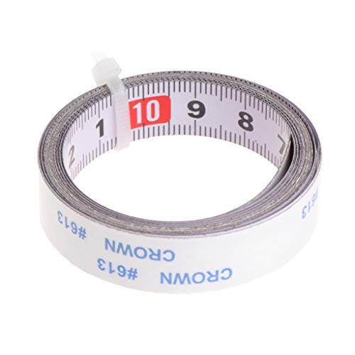 Hacloser Adhesive Metric Scale Tape Measure 1m Paste Ruler Reverse for Router Saw Table Band Saw Woodworking Tools