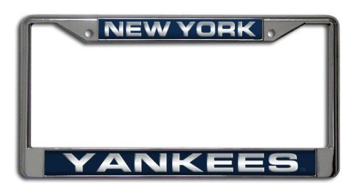 MLB New York Yankees Laser-Cut Chrome Auto License Plate Frame
