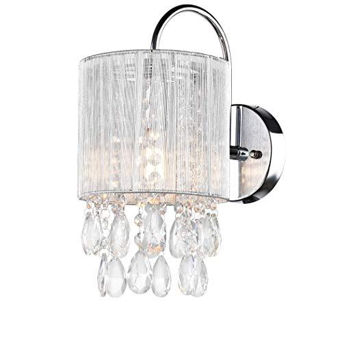 Crystal 1 Sconce Light (CLAXY Ecopower Lighting Modern Metal Crystal Wall Sconce-1 light)