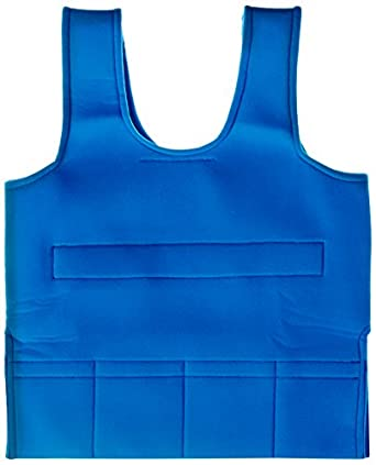 "Abilitations Integrations Weighted Soft Vest, Blue, Small, 30"" L x 15"" W"