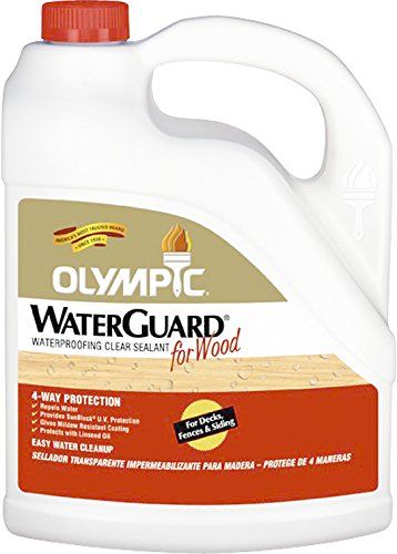 Olympic Stain 55260A-05 WaterGuard Wood Waterproofing Sealant, 5 Gallons, (Olympic Water Guard)