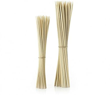 Combo of 50 Pcs 8 + 50 Pcs 10 Bamboo Kebab Sticks / Party Cocktail Skewers!