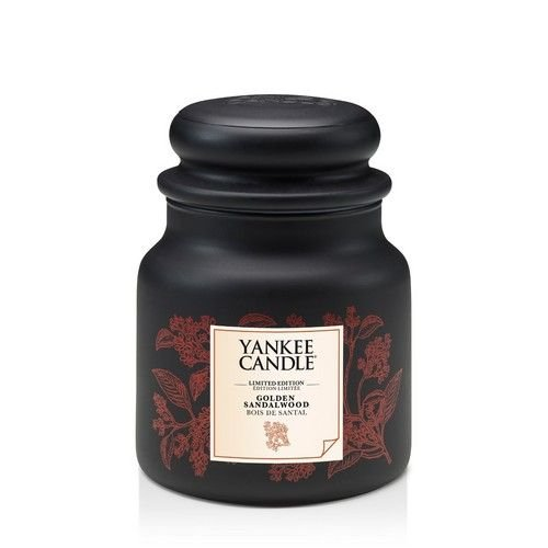 Yankee Candle Sito Ufficiale.Yankee Candle Golden Sandalwood Kerze Glass Czarny M